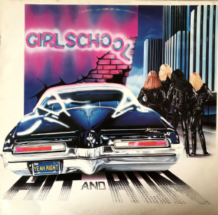 Girlschool - Hit & Run (LP) (Red Vinyl) (VG-EX/G)